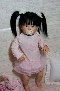 Custom-Order-Reborn-Kana-Toddler-Doll-Asian-Baby-Girl-By-Ping-Lau-Human-Hair