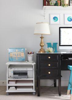 Beside Table Turned Rolling Printer Cart : Apartment Living Blog