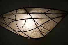 Washi paper lamp.