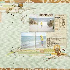 Море. Цвет мяты. Скрапбукинг идеи. Странички / Scrapbook ideas pages. Sea