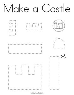 Make a Castle Coloring Page - Twisty Noodle 3 Year Old Activities, Morning Activities, Team Building Activities, Physical Education Games, Health Education, Physical Activities, Castle Coloring Page, Coloring Pages, Castle Crafts