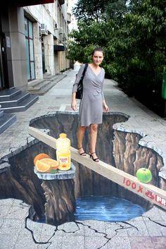 Art - Street Art ok? wiki Iklan Arts Collections and article category about Art - Street Art. 3d Street Art, 3d Street Painting, Murals Street Art, Amazing Street Art, Street Art Graffiti, Amazing Art, Awesome, Edgar Mueller, 3d Sidewalk Art