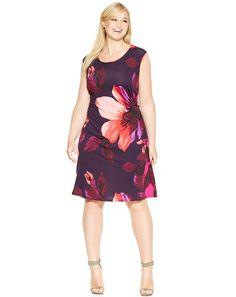 Plus Size Flower Dress