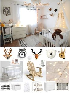 {Shopping} Louise& Room in the Enchanted Forest Baby Bedroom, Nursery Room, Kids Bedroom, Kids Rooms, Unisex Kids Room, Baby Deco, Boho Home, Kids Room Wall Art, Woodland Nursery Decor