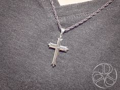 Split Cross by David Daffer Designs - Creative Meaningful Sterling Silver Jewelry Sterling Silver Cross, Sterling Silver Jewelry, Meaningful Jewelry, Christian Jewelry, Cross Pendant, David, Pendant Necklace, Creative, Drop Necklace