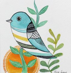 Wall Art / Bird art / Print from Original watercolor By sublimecolors