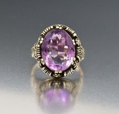 Austro Hungarian Arts & Crafts Silver Amethyst Ring  #Austro #Arts #Amethyst #Silver #Natural #Art #Ring #Suffragette #Cluster #Foil