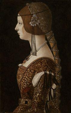 Ambrogio de Predis, Bianca Maria Sforza. National Gallery of Art, Washington, D.C.