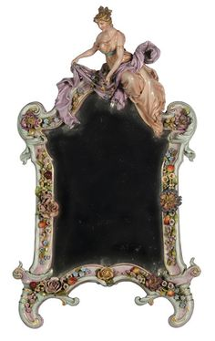 """""""A Dresden porcelain figural dressing table mirror"""" by Unknown (Lot Number 849) 