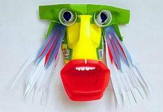 David Edgar's colorful Plastiquarium Water Bottle Crafts, Plastic Bottle Crafts, Bottle Cap Crafts, Plastic Art, Recycled Bottles, Recycled Art, Recycled Materials, Repurposed, Plastic Bottle Tops