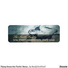 Customizable Return Address Label made by Zazzle Paper. Addressing Envelopes, Return Address Labels, Gift Tags, Create Your Own, Turtle, Stationery, Lettering, Sea, Templates