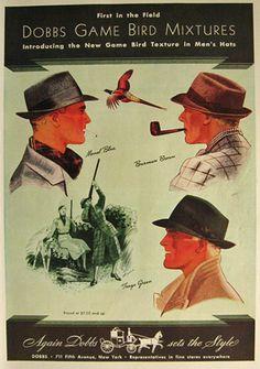 1936 Dobbs Game Bird Mixtures Hats Ad