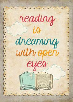 Leer es como soñar con los ojos abiertos.