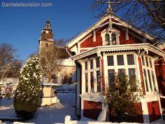 Naantali no sudoeste da Finlândia durante a época de Natal