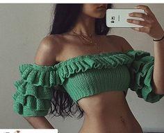Crochet Bra, Crochet Halter Tops, Crochet Crop Top, Sewing Clothes, Crochet Clothes, Diy Clothes, Mode Outfits, Fashion Outfits, Womens Fashion