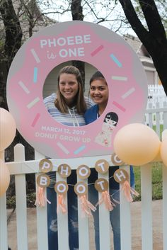 Elei Ink and Paper - Need a photo booth prop for your party? Message us for a free quote! - Donuts and dolls party theme donut photo booth