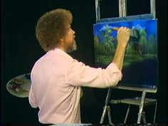"""Bob Ross and """"The Joy of Painting:"""" Summer foliage (from DVD #D514D)"""