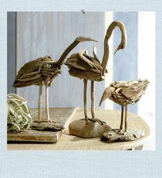 driftwood beach birds #LiquidGoldSalvagedWood