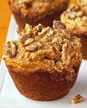 healthy morning muffins  My sister told me about these! Super yummy! We used 1 cup whole wheat flour and 1/4 cup flaxseed flour.