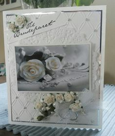 Bryllupskort Wedding Day Cards, Wedding Anniversary Cards, Frame, Crafts, Ideas, Home Decor, Wedding Anniversary Greeting Cards, Picture Frame, Happy Wedding Anniversary Cards