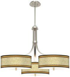 Spice Dahlia Giclee Stacy Garcia Modern Triple Pendant - #EUN0494-P2729 - Euro Style Lighting