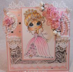 ScrapbookFashionista Designs by Rina: SSS Inspiration Princess Birthday Card