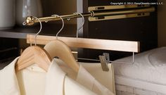 Tip of the Day: Adding few small accessories (like this valet pole) to your reach-in closet can take it from a standard closet to an amazing and organized space.