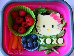 Bento Love: Hello Kitty --- great fun ideas for kid's snacks and meals! LOVE