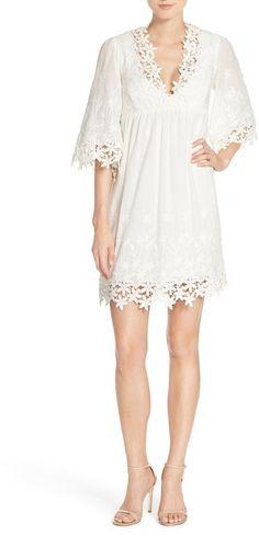 Betsey Johnson Lace Trim Cotton Tunic Dress