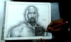 #The #Rock #Dwayne-Douglas-Johnson #drawing #pencil #HB