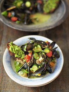 Pesto Mussels & Toast | Jamie Oliver | Family Super Food