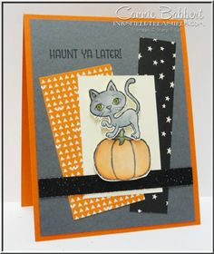 Haunt ya Later, Stampin' Up!, black cat, Halloween, #stampinup, Create with Connie and Mary Blog Hop, created by Connie Babbert, www.inkspiredtreasures.com