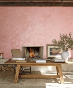 Ralph Lauren Paint's new 2-step specialty finish, Polished Patina, in Rosa Aurora - a sophisticated pink with beautiful depth