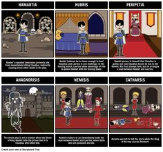 Hamlet - Tragic Hero: The Tragic Hero Storyboard for The Tragedy of Hamlet is a great activity idea for your students to do.