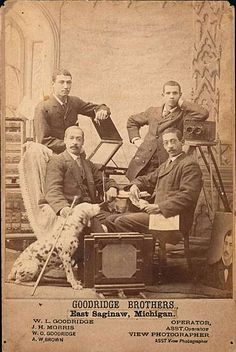 From its beginning in York, Pennsylvania, in 1847, until the last surviving brother's death in Saginaw, Michigan, in 1922, the Goodridge Brothers Studio was the most significant African American photography studio in North America.    Glenalvin, Wallace L. and William O. Goodridge created thousands of images in formats ranging from daguerreotypes to motion pictures. They were extraordinarily adaptable, always changing with the times. More than 1,000 Goodridge photographs exist today.