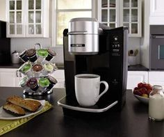 Mr. Coffee BVMC-KG6-001 Single Serve Coffee Brewer Powered by Keurig Brewing Technology, Black - http://www.best-coffee-machine.net/best-coffee-machines/mr-coffee-bvmc-kg6-001-single-serve-coffee-brewer-powered-by-keurig-brewing-technology-black