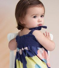 Two Tie Surf Lilly Romper at teacollection.com, beautiful summer pattern for baby.