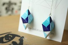Ayano Origami Earrings by leekmo on Etsy, $26.00
