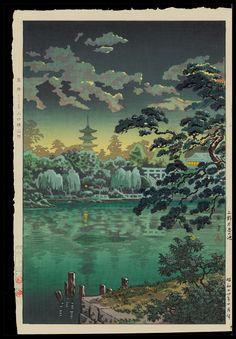 Tsuchiya Koitsu: Ueno Shinobazu Pond - 上野不忍の池