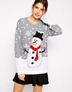 Club L Snowman Christmas Jumper