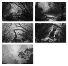 Quick Environment thumbnails 2 by Lyno3ghe.deviantart.com