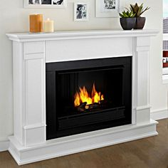 Realflame Model Silverton G8600-W White Gel Fireplace Gel Fireplace