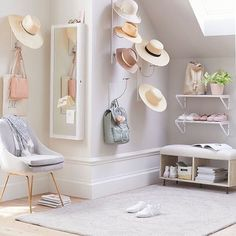 6d408c09c198a Limited storage space  Turn your hats into wall décor! Our Vertical Hat  Storage Wall