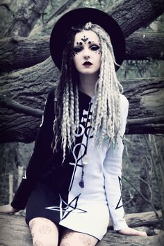 Psychara X Dolls kill by Psychara.deviantart.com on @DeviantArt Occult Goth. Love her twists/dreads (can't tell).