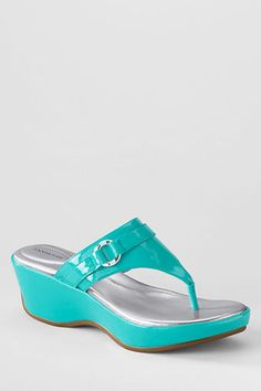 28d2444eedd Women s Harbor Light Mid Platform Wedge Thongs from Lands  End.ordered some  today.