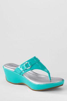 Fabulous 'Patent' Wedge Sandals ⚓ Beach Cottage Life ⚓ VEGAN!! Yey!