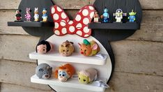 Miki Mouse, Plywood Shelves, Paint Matching, Kids Room Organization, All Wall, Minimalist Bedroom, Toddler Bed, Shelf, Hand Painted