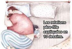 Les Relations Père-Fille Expliquées en 10 Dessins.