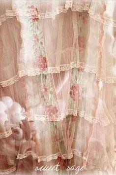 Loveliest Vintage Pink Lace