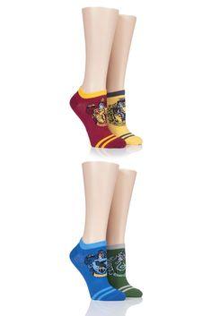 Harry Potter House Badges Cotton Trainer Socks Harry Potter Socks, Harry Potter Houses, Hogwarts Houses, Potters House, Sock Shop, Novelty Socks, Stocking Fillers, School Fashion